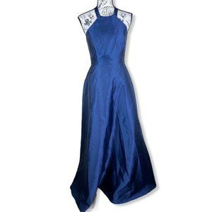 Alfred Sung Halter Gown with Lace-Up Back- size 4